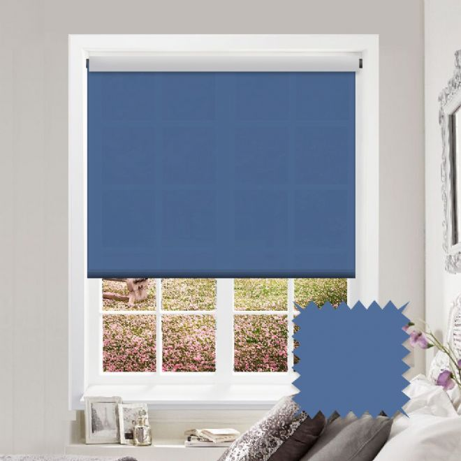 Blue Roller Blind - Astral Legion Plain - Just Blinds